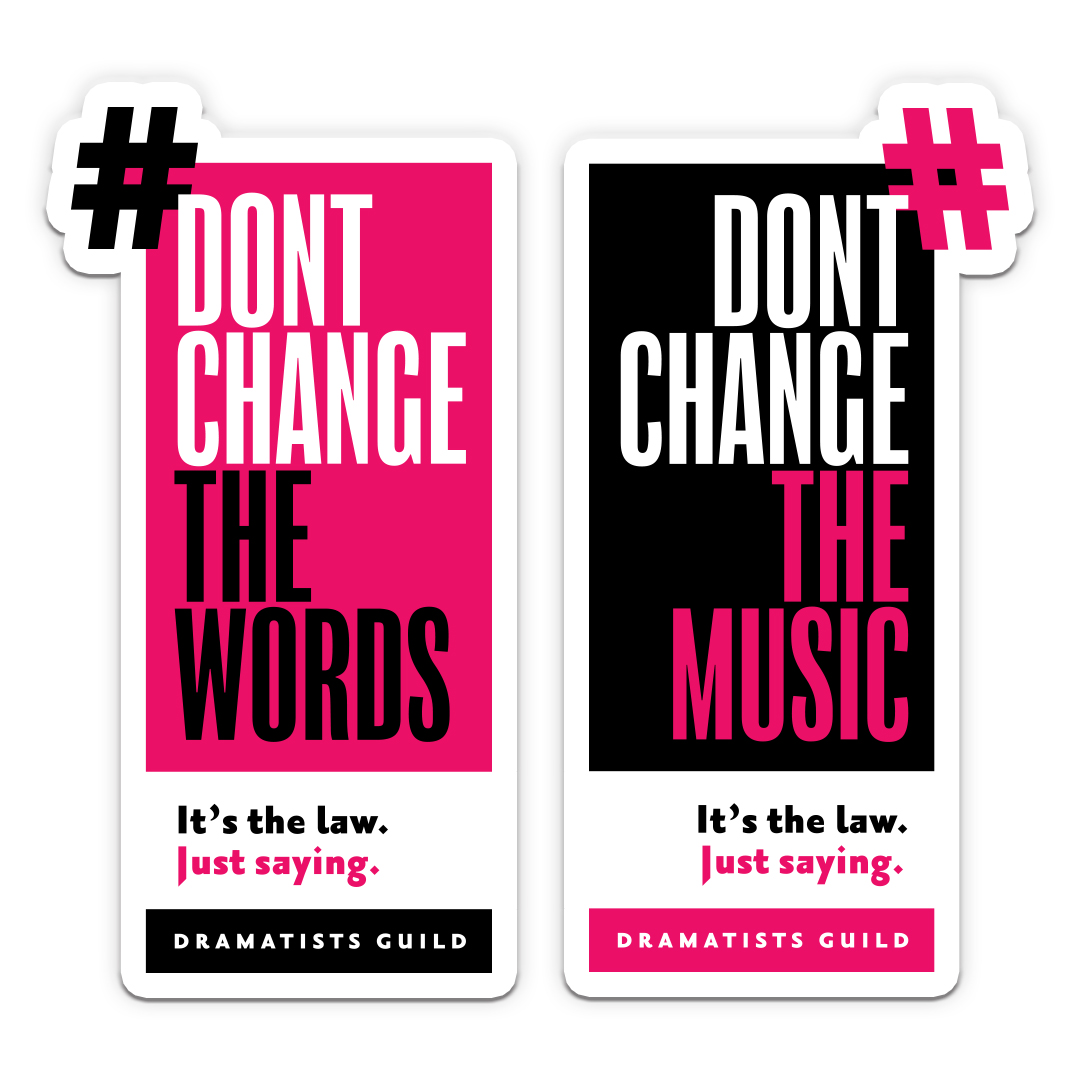don't change the words sticker