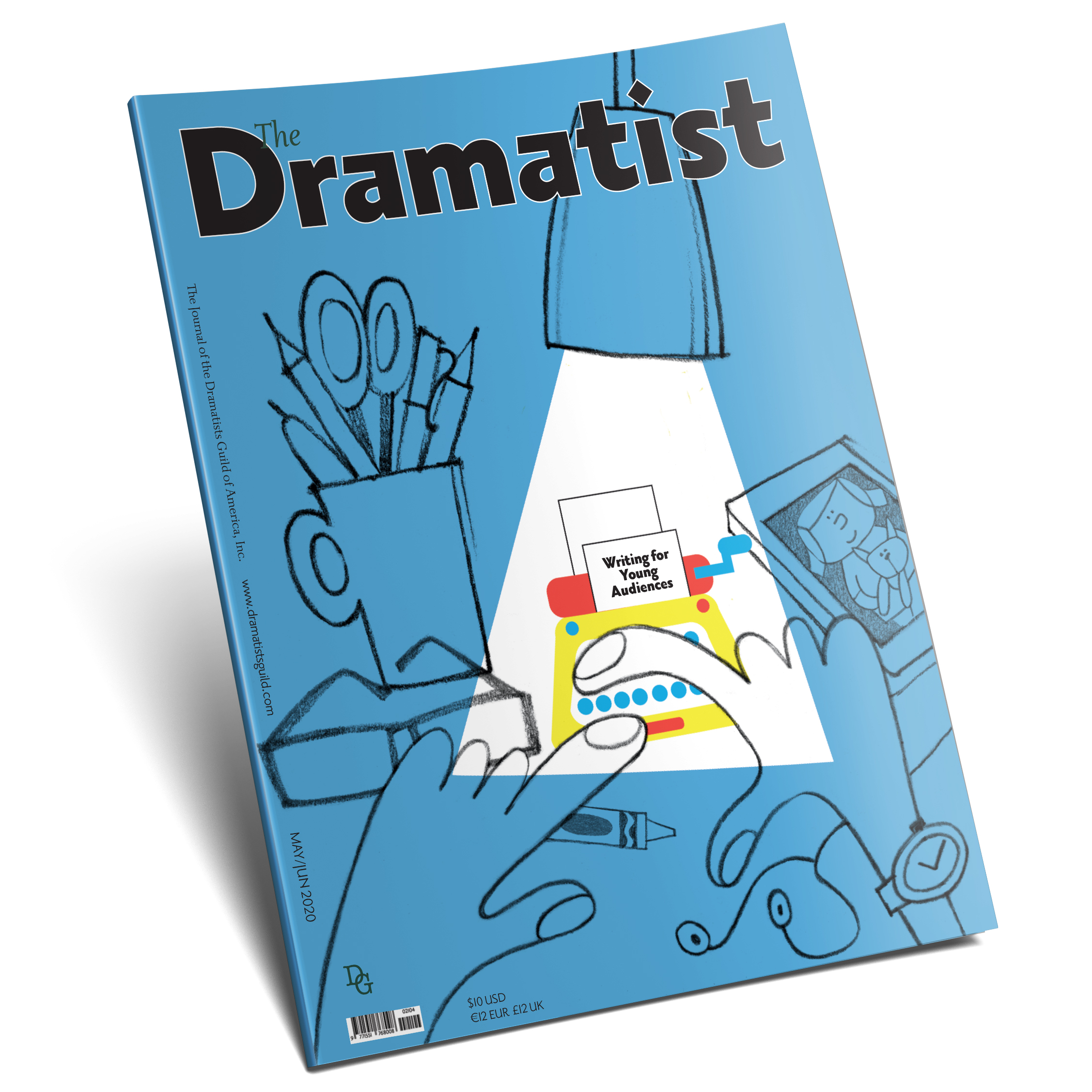 Cover of the May June issue of The Dramatist