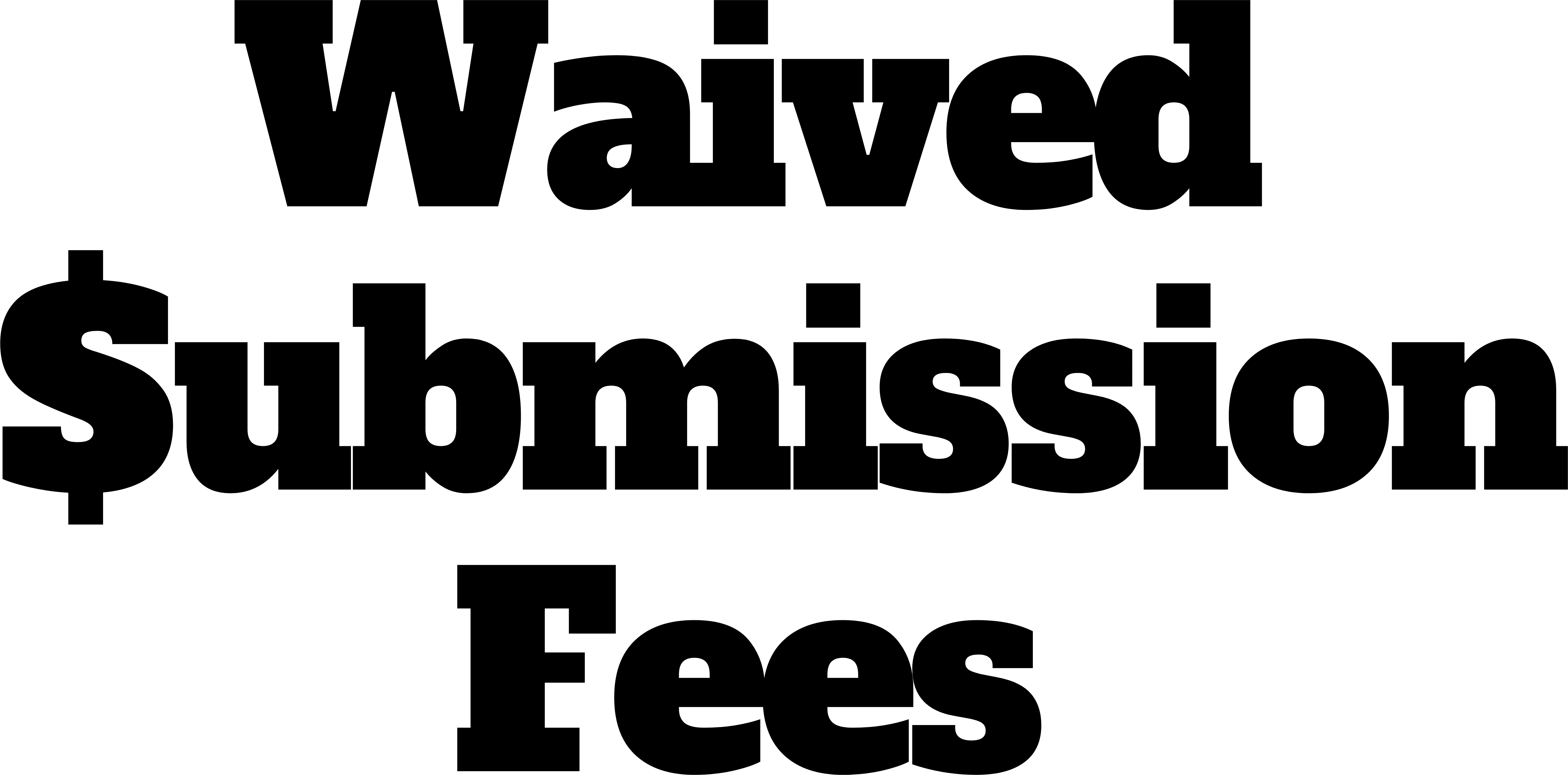 Waived Fees