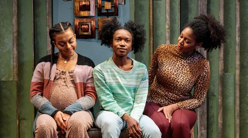 Aaliyah Ann, Amanda Morris, and Latoya Cameron in form of a girl unknown at Salt Lake Acting Company
