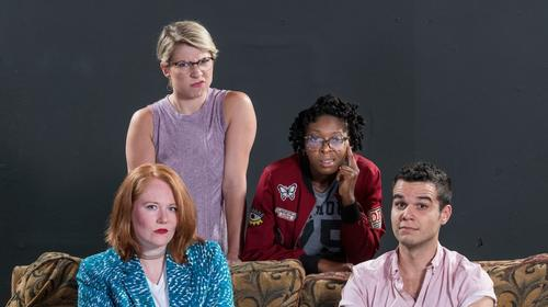 The cast of Cooties, produced by Flexible Grey and Uptown Players