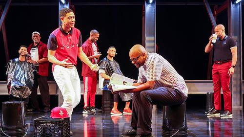 The cast of the Baltimore Center Stage production of Thoughts of a Colored Man. Photo by Michael Davis.
