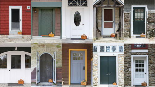 Photo of 10 different doors