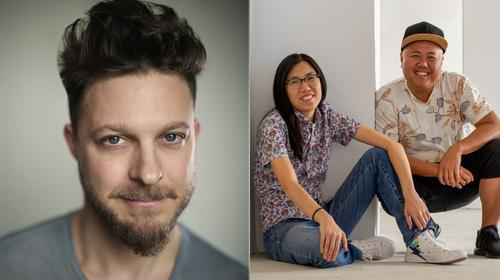 Headshot of Benjamin Scheuer and headshot of Melissa Li and Kit Yan