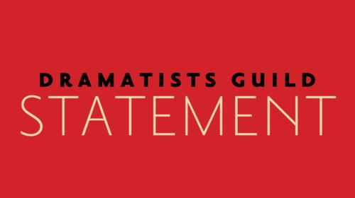 dramatists guild statement